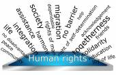 Human Rights Wordcloud — Stok fotoğraf