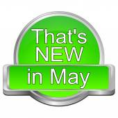 That's new in May Button — Stock Photo