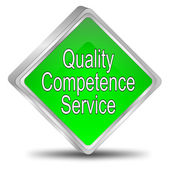 Quality Competence Service Button — Stock Photo