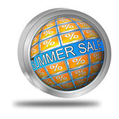 Summer Sale Button — Stock Photo