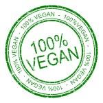 Hundred percent vegan rubber stamp — Stock Photo #75106231