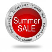 Summer Sale Button — Stock Photo