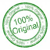 Hundred percent Original rubber stamp — Stock Photo