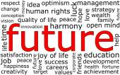 Future Wordcloud — Stock Photo