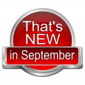 That's new in September Button — Stock Photo