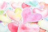Heart shape on white background — Stock Photo