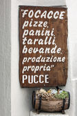 Italian menu' - puglia — Stock Photo
