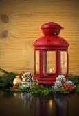 Christmas Lantern with Fir Tree  — Photo