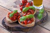 Italian starter friselle -  puglia — Stock Photo