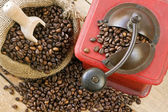 Coffee grinder on background — Stock Photo