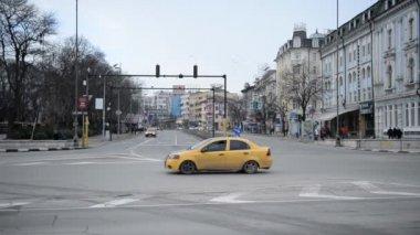 VARNA, BULGARIA - JANUARY 20, 2015: Varna. Bulgaria. Street Vladislav Varnenchik — Stock Video