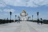 MOSCOW, - MAY 15: Cathedral of Christ the Savior. MAY 15, 2015 in Moscow, Russia — Stock Photo