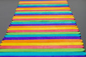 Colorful wooden stripe on horizontal3 — Stock Photo