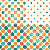 Set of colorful polka dot patterns — Stock Vector