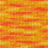 Knitted melange vector seamless pattern — Stock Vector
