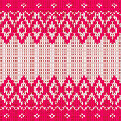 Traditional seamless knitted pattern in scandinavian style — Stock Vector