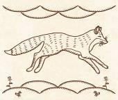 Running fox — Stock Vector