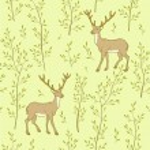 Forest wallpaper with deer — Stock Vector #67629499
