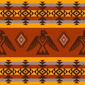 Ethnic seamless pattern on tribal native american style — Stock Vector
