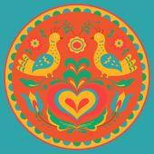 Birds and heart vector illustration — Stock Vector