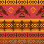 Eagles ethnic style pattern — Stock Vector