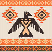 Ethnic ornament with eagle — Stock Vector