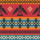 Eagles ethnic pattern on native american style — Stock Vector