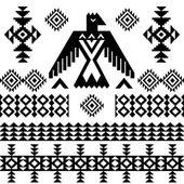 Vector tribal vintage native ethnic background — Stock Vector