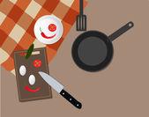 Tavolo in cucina — Vettoriale Stock