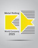 Metal Rolling — Stock Vector