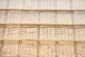 Old white brick  — Stock Photo