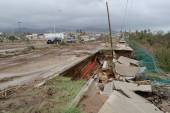 Destroyed road by hurricane Odile — Stock Photo