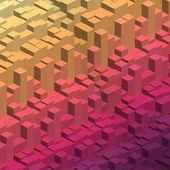 Geometrik küpleri arka plan — Stok Vektör