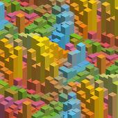 Geometrical cubes background — Vetor de Stock