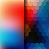 Geometrischen Mosaik und matt Hintergrund — Stockvektor