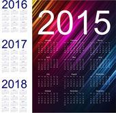 Simple calendar with figures — Stock Vector