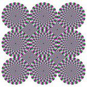 Sfondo di illusione ottica — Vettoriale Stock