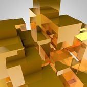 Geometrik küpleri arka plan — Stok fotoğraf