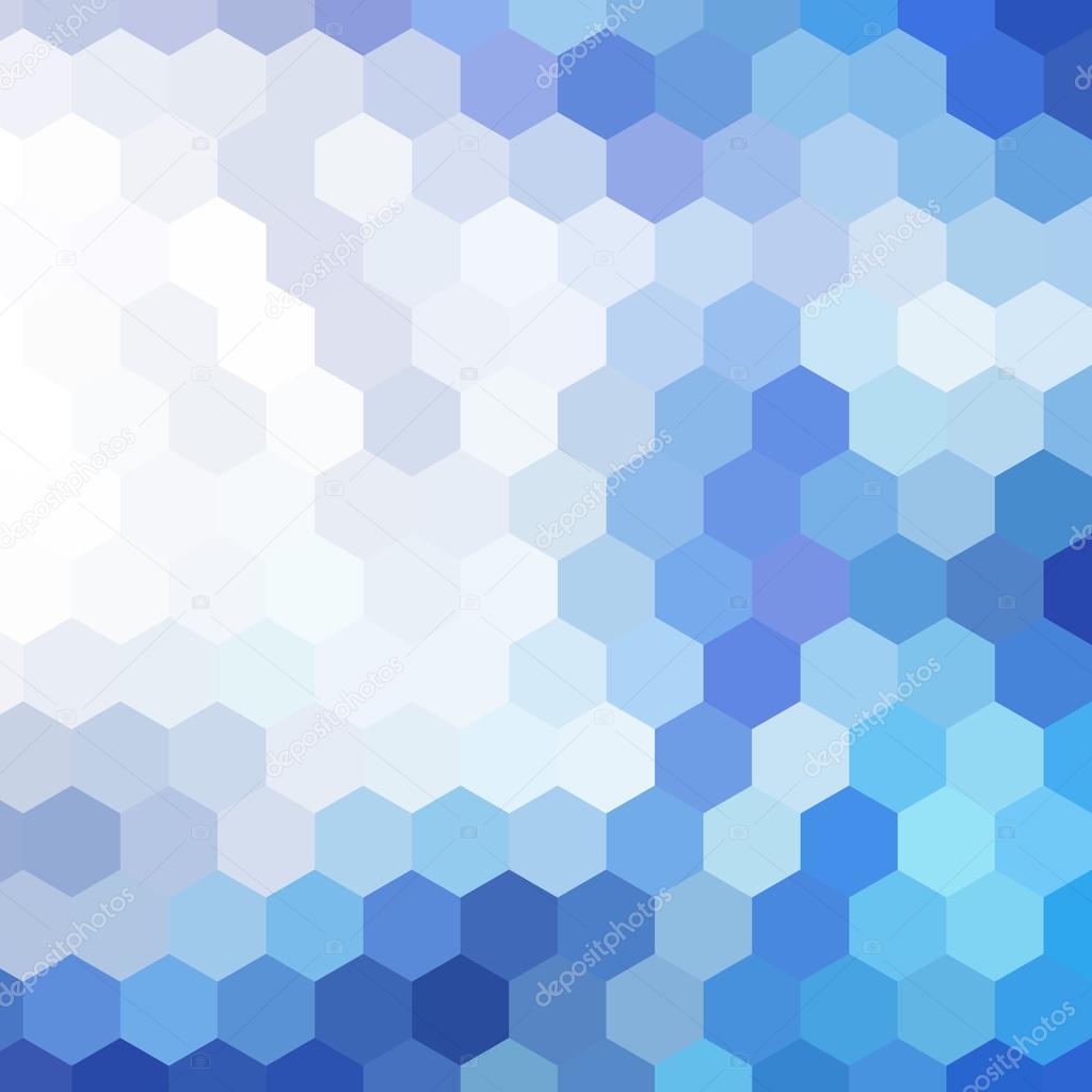 抽象的几何形状马赛克蓝色背景– 图库插图
