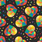 Bezszwowe tło kolorowe serca — Wektor stockowy
