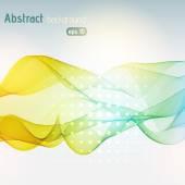 抽象的なカラフルな波のベクトルの背景 — ストックベクタ