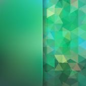 Abstract background consisting of green triangles and matt  glas — Stock Vector