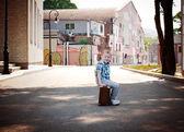 Little traveler — Stock Photo