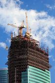 Business tower construction — ストック写真