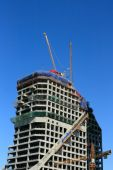 Construction of tower building  — Stock Photo