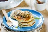 Vegan poppy seed pancake  — Stock Photo