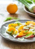 Orange with Apple and Fennel salad — Stockfoto