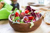 Grape with Radicchio, Rocket salad — Stock Photo