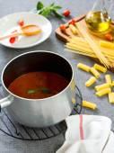 Tomato sauce for pasta — Stock Photo