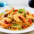 Spaghetti with prawn and tomato — Stock Photo #58801703